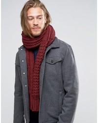 Écharpe en tricot bordeaux Diesel