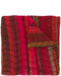 Écharpe en tricot bordeaux Missoni