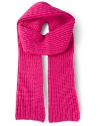 Écharpe en tricot fuchsia Cédric Charlier