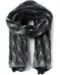 Écharpe en tricot gris foncé Avant Toi