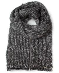 Écharpe en tricot gris foncé Diesel