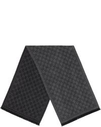 Écharpe en tricot gris foncé Gucci