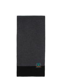Écharpe en tricot gris foncé Kenzo