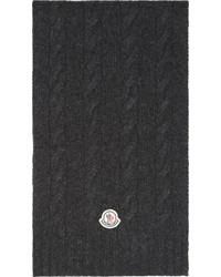 Écharpe en tricot gris foncé Moncler