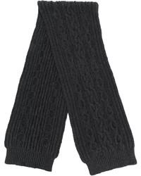 Écharpe en tricot gris foncé Pringle