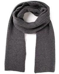 Écharpe en tricot grise foncée