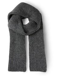 Écharpe en tricot grise foncée Cédric Charlier