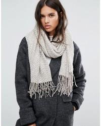 Écharpe en tricot grise Aldo
