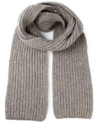 Écharpe en tricot grise Ann Demeulemeester