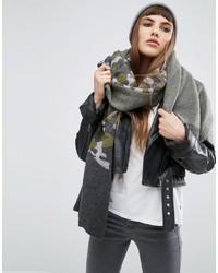 Écharpe en tricot grise Asos