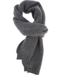 Écharpe en tricot grise Brioni