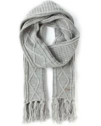 Écharpe en tricot grise Diesel
