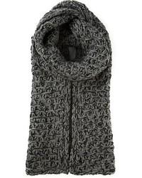 Écharpe en tricot grise Dolce & Gabbana