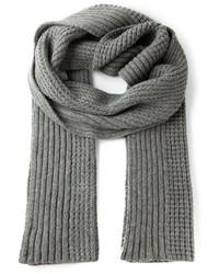 Écharpe en tricot grise Haider Ackermann