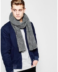 Écharpe en tricot grise Jack and Jones