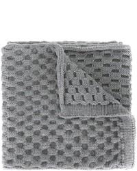 Écharpe en tricot grise Jil Sander