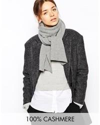 Écharpe en tricot grise Johnstons