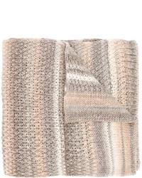 Écharpe en tricot grise Missoni