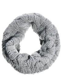 Écharpe en tricot grise Selected