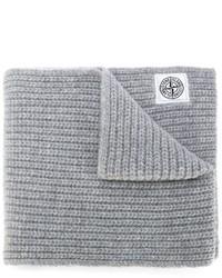 Écharpe en tricot grise Stone Island