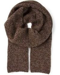 Écharpe en tricot marron