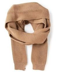 Écharpe en tricot marron Ami