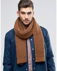 Écharpe en tricot marron Asos