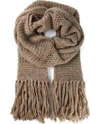 Écharpe en tricot marron Etoile Isabel Marant