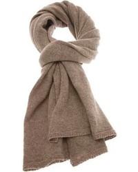 Écharpe en tricot marron Inverni