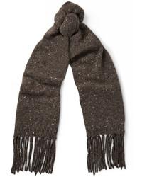 Écharpe en tricot marron Maison Margiela