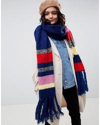 Écharpe en tricot multicolore ASOS DESIGN