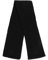 Écharpe en tricot noir Neil Barrett