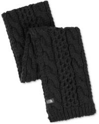 Écharpe en tricot noire