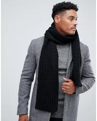 Écharpe en tricot noire ASOS DESIGN