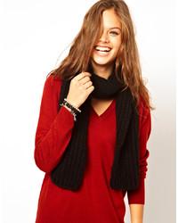 Écharpe en tricot noire Asos