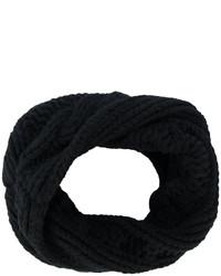 Écharpe en tricot noire Balmain