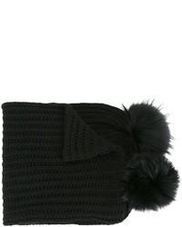 Écharpe en tricot noire Blugirl