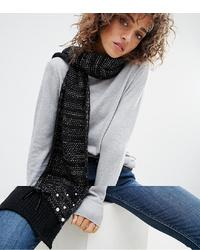 Écharpe en tricot noire Boardmans
