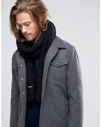 Écharpe en tricot noire Diesel