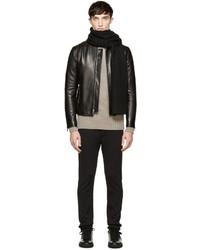 Écharpe en tricot noire Dolce & Gabbana