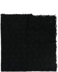 Écharpe en tricot noire Faliero Sarti