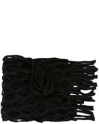 Écharpe en tricot noire MARQUES ALMEIDA