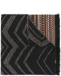 Écharpe en tricot noire Missoni