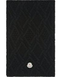 Écharpe en tricot noire Moncler