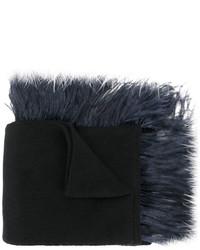 Écharpe en tricot noire No.21