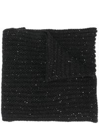 Écharpe en tricot noire Nude