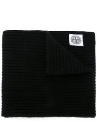 Écharpe en tricot noire Stone Island