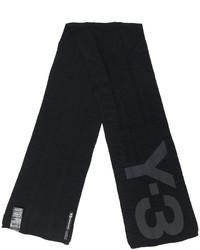 Écharpe en tricot noire Y-3