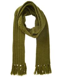 Écharpe en tricot olive