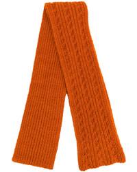 Écharpe en tricot orange